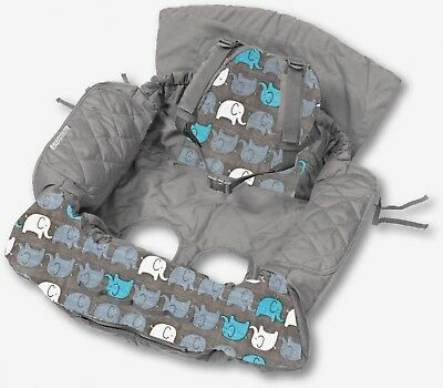 Shopping Trolley Cover and High chair cover - Elephants