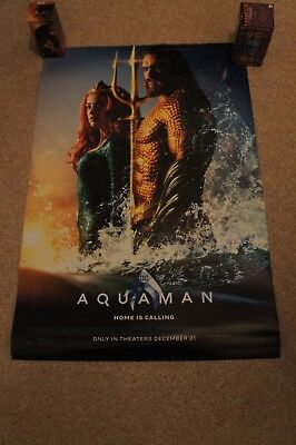 Aquaman 27x40 Theater DS Movie Poster LOT of 2