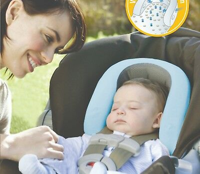 Air flow head neck support /infant/newborn for carseat pram strollers grey blue