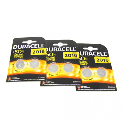 6x Duracell CR2016 3V Lithium Button Battery Coin Cell DL/CR/BR 2016 Exp. 2027