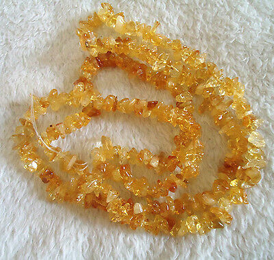 "16""L Natural citrine Gemstone Jewelry Loose Chip Beads 1 Strand"
