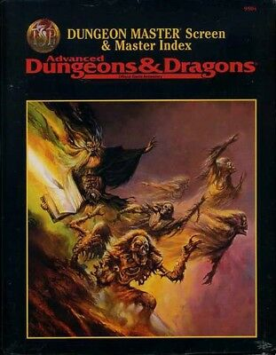 DUNGEON MASTER SCREEN SEALED 9504 D&D TSR Dungeons Dragons Screens DM Guide  Game