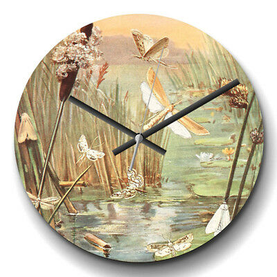 Large Wall Clock Silent Vintage Paul Flanderky German water-insects Retro Animal