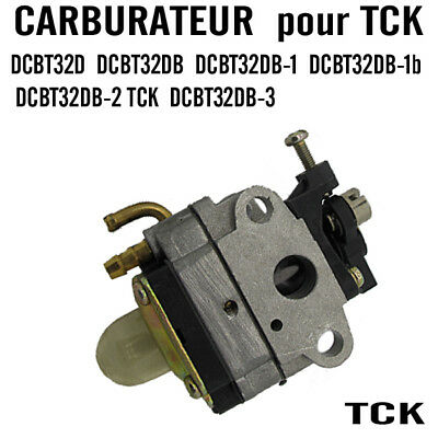 TCK PIECE DEBROUSSAILLEUSE CARBURATEUR tck DCBT liste sur photo