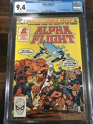 CGC 9.4 Alpha Flight #1 White Pages WPC