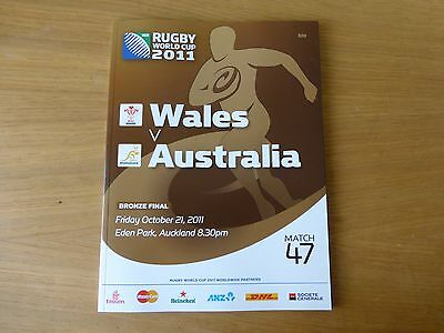 2011 Rugby World Cup programme Wales v Australia bronze final match 47