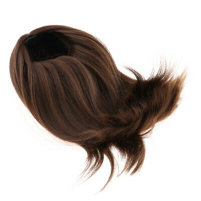 40cm Doll Middle Parting Long Wig for Salon Dolls Hair DIY Making Brown
