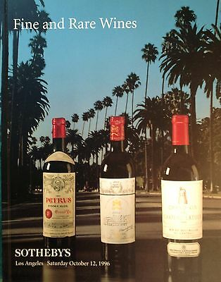 Sotheby's Catalog FINE AND RARE WINES 10/1996 Los Angeles