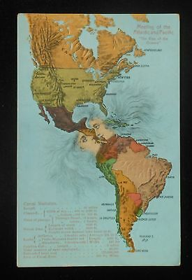1910s Meeting of the Atlantic & Pacific Kiss of the Oceans Panama Canal Lesbian