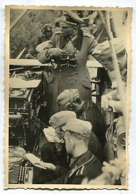 German Wwii Photo From Archive: Wehrmacht General In Mobile Headquarters