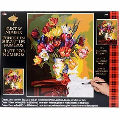 Plaid Creates Paint by Number Kit 16 by 20-Inch, 22049 Tulips on Parade