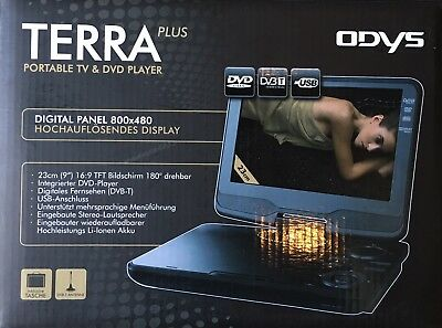 Odys Terra Plus Portable Tv Dvd Player 9 Dvb T Antenne Eur 39