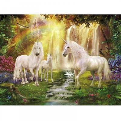 Plaid Creates Paint by Number Kit (16 by 20-Inch), 22060 Waterfall Glade Unicorn