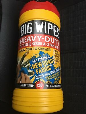 BIG WIPES - Heavy Duty Red Top Wipes - 80 Wipe Box