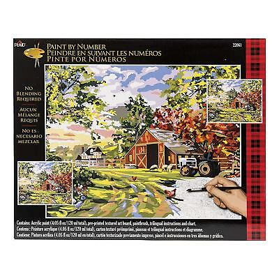Plaid Creates Paint by Number Kit (16 by 20-Inch), 22061 Old Farm House