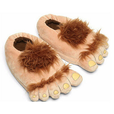Hobbit Furry Adventure Slippers Slipper Shoes Novelty Unisex Costume Xmas Gift