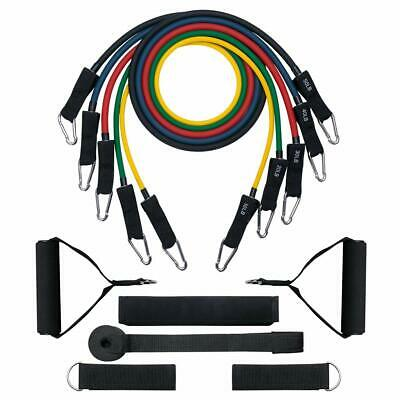 Resistance Tubes Bands Fitness Train Loop Set Workout Exercise Elastic Stretch