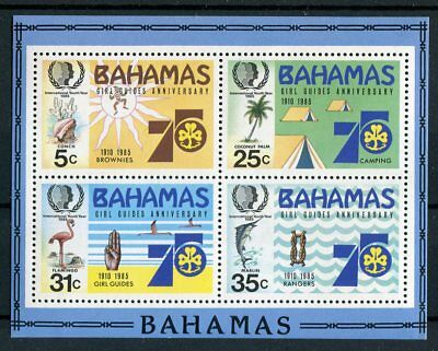 Bahamas QEII 1985 Youth Year Girl Guides SG.MS707 MNH