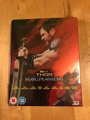 Thor Ragnarok 3D + 2D Blu-Ray UK Limited Edition Sold-Out Steelbook New & Sealed