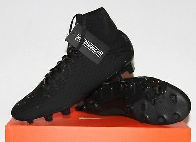 purchase cheap c2acc dbd48 NEW NIKE HYPERVENOM PHELON 3 DF FG Soccer Cleats Mens Triple Black 917764- 001
