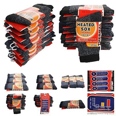 Men 1, 3 Pairs Lot 10-13 Thermal Socks Winter Warm Heated Thick Heavy Boots Sox