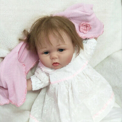 "55cm 22"" Soft Silicone Vinyl RealLife Reborn Baby Dolls Lifelike Girl Toy Gifts"