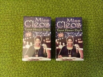 New Sealed ~ Two Decks Miss Cleo's Tarot Power Deck ~ Divination Cards