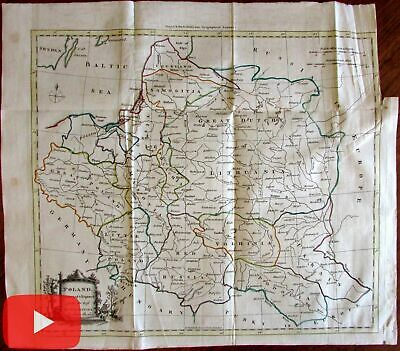 Poland Lithuania Red Russia c.1771 decorative scarce large folio Barber map