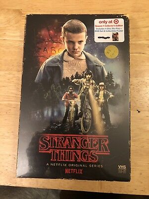 Stranger Things Season 1 Collectors edition -VHS Packaging Blu-Ray - New/Sealed!