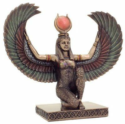 9 Inch Egyptian Winged Isis Decorative Figurine Statue Ancient Goddess Justice