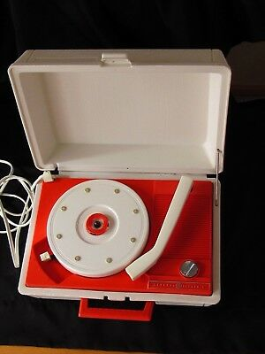 Vintage General Electric V211n Solid State Portable Suitcase Record Player