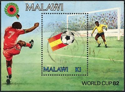 Malawi 1982 SG#MS661 World Cup Football Used M/S #D81138
