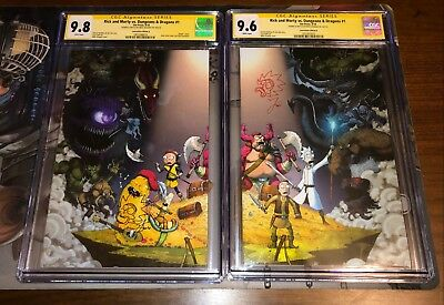 Cgc Ss Rick & Morty D&d # 1 Nycc Virgin Exclusive - Signed Sketched Mike Vasquez
