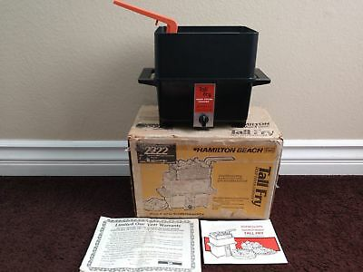 VINTAGE Hamilton Beach Scovill TALL FRY Deep Fryer Cooker 2222 Made in The USA