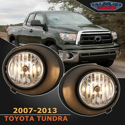 Fit Toyota Tundra 07-13 Clear Lens Pair OE Fog Light Lamp+Wiring+Switch Full Kit