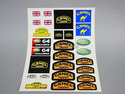 RC 1/10 Car Truck CAMEL TROPHY DECALS STICKERS Land Rover G4 Challenge  *NEW*