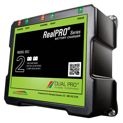 Dual Pro RealPRO Series Battery Charger - 12A - 2-6A-Banks - 12V/24V RS2