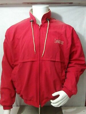 Vintage Hilton Coca Cola Jacket, Large Red With White Mesh Liner