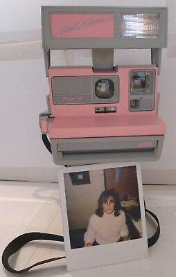 Polaroid 600 Instant Film Camera Pink Cool Cam & Strap & NEW FILM -TESTED  C