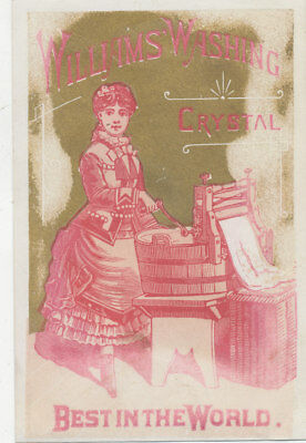 C9787 Victorian Trade Card Williams Washing Crystal  Soap