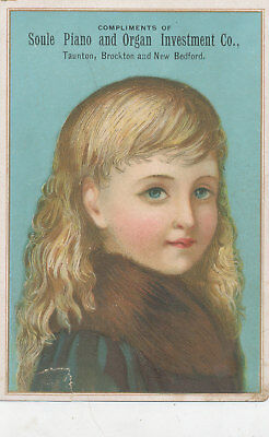 C9421  Victorian Trade Card  Soule Piano Organ Investment Co