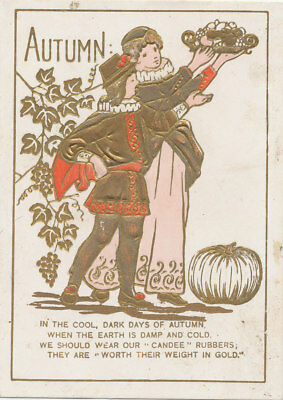 C9436   Victorian Trade Card The Candee Boots Shoes  Le Kimball Northwood Nh