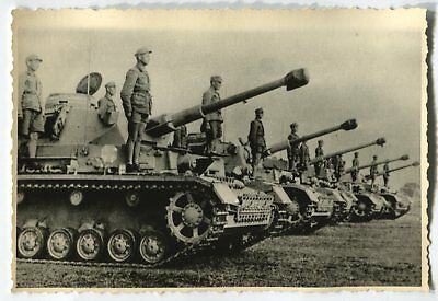 German Wwii Archive Photo: Panzer Iii Tanks With Their Crews, African Campaign