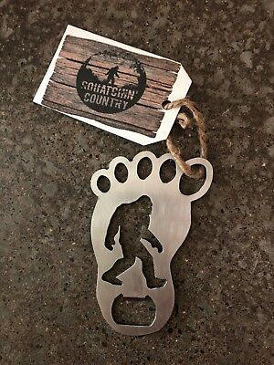 Bigfoot Sasquatch bottle opener - stainless steel made in the USA fits keyring