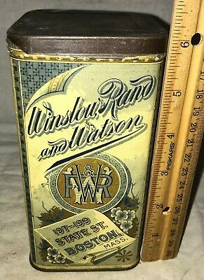 Antique Royalty Chop Tin Litho Tea Can Vintage Boston Ma Country Grocery Store