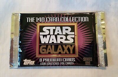 1993 Topps Star Wars Galaxy Deluxe Sealed Box - 36 Packs - 8 Cards per Pack