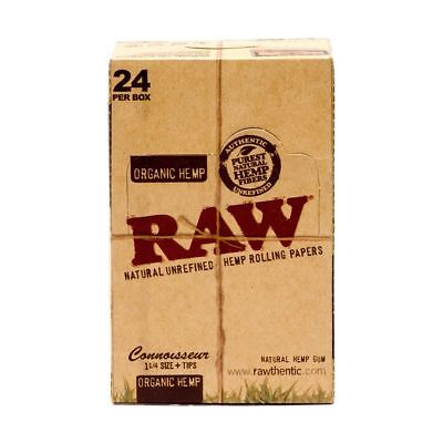 RAW Organic Connoisseur 1.25 1 1/4 Rolling Paper - 6 PACKS - Papers + Tips