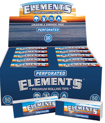 Elements Perforated Tips - 10 PACKS - Rolling Paper Filter 1.25 1.0 King Size