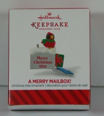 2014 Hallmark A Merry Mailbox Miniature Ornament Member Exclusive