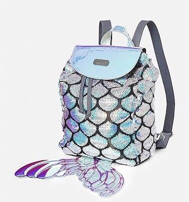 Justice Mermaid Mini Rucksack NWT!❤️🌈🌈🌈🌈sold Out!